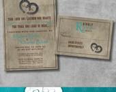 Rustic Charm Wedding Invitation and Matching Response Card - DIY - Printable - Customizable - Western