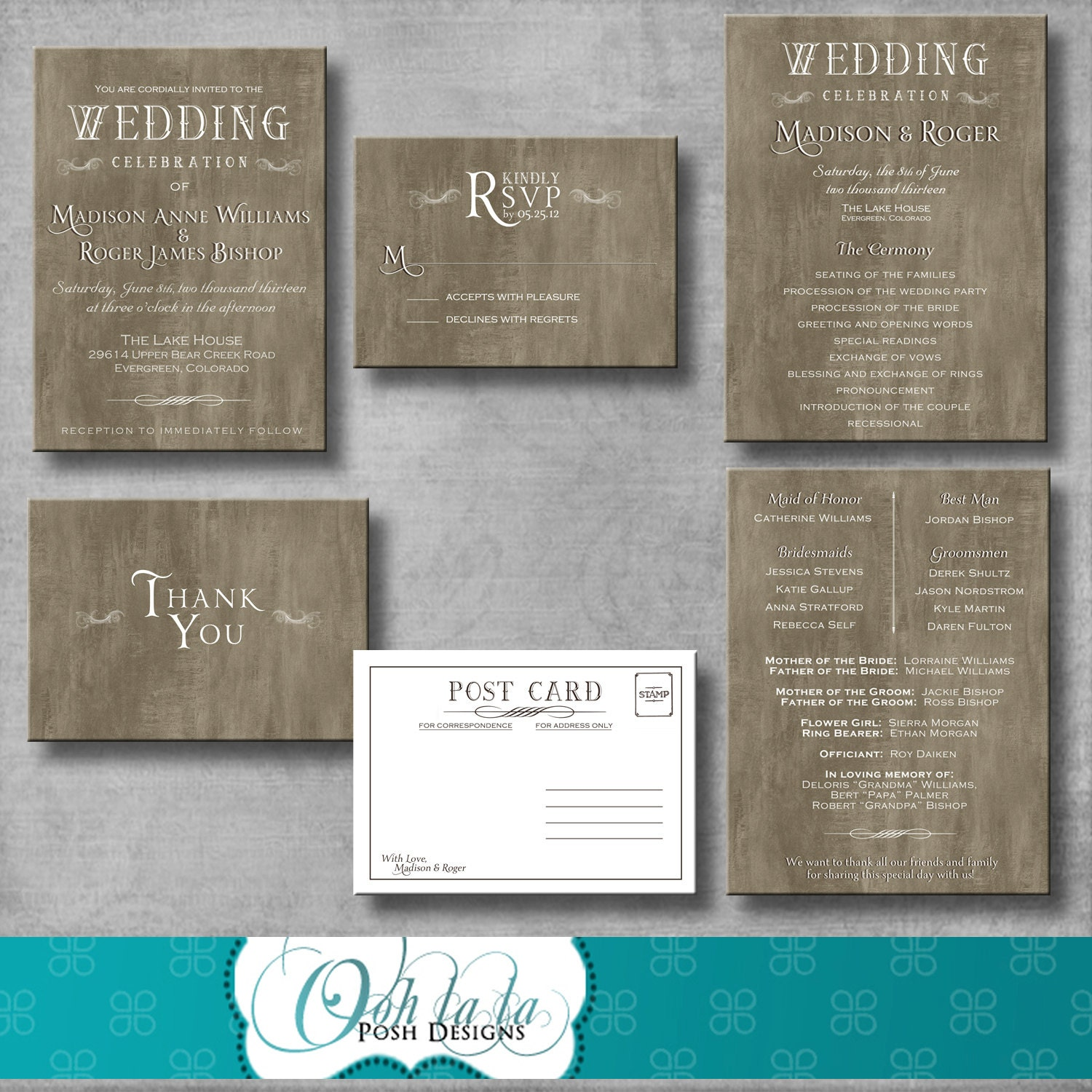 Wedding Invitation Response Cards: Rustic Elegant Wedding Invitation Response Card Wedding