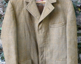 SALE Tweed Original Teller Vintage Coat Made in Austria Menswear Size 40