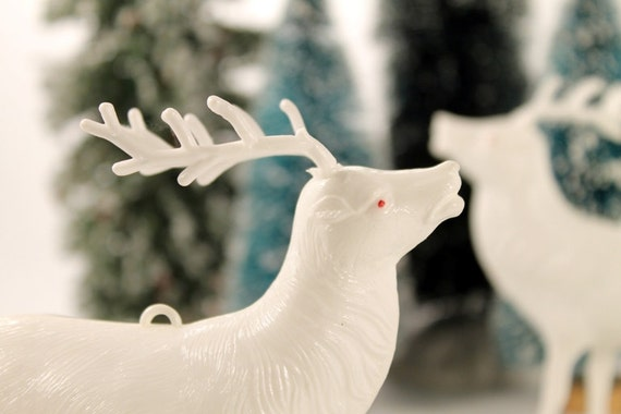 Vintage Celluloid Christmas Woodland Reindeer Ornament Figurine