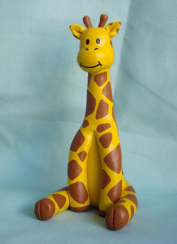 Cake Toppers Birthday Etsy : Items similar to Giraffe Birthday Cake Topper on Etsy