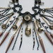 Evil Eye & Spikes Statement Necklace. Neo-Victorian Steampunk Bib Necklace.