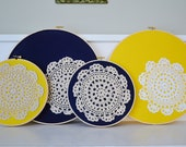Upcycled Vintage Doily Hoop Art