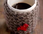 chocolate 100% wool mug cover