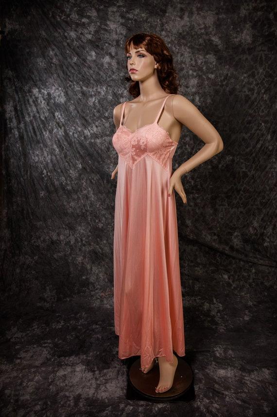 Vintage Olga Nightgown Lingerie Style 9210 Long Full Skirt