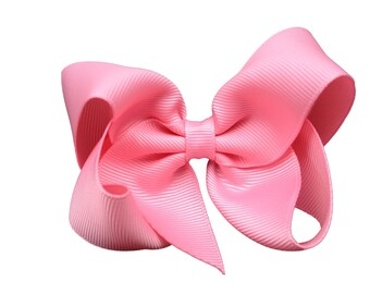 Adorable pink boutique hair bow - pink boutique bow, pink bow