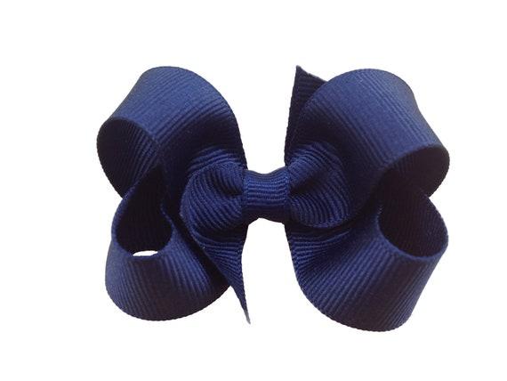 Navy blue boutique bow - navy blue bow, navy bow