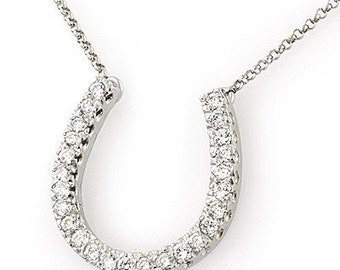 Diamond Horseshoe Necklace (Large)