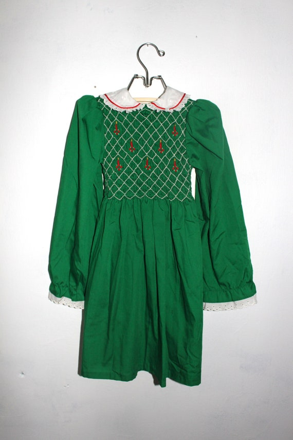 Vintage polly flinders christmas girls dress by peppermintandcocoa