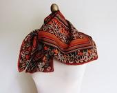 vintage silk scarf fall  autumn colors