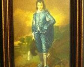 Blue Boy and Pinkie Vintage Framed Art