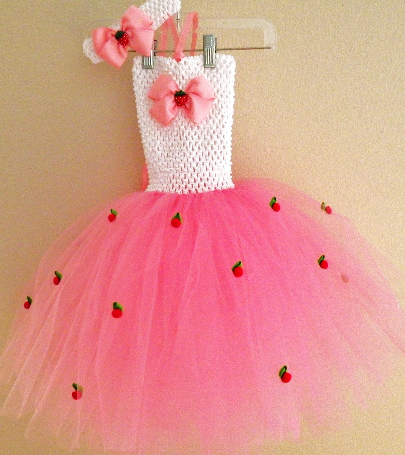 Strawberry Tutu Dress Costume Toddler Girls Birthday Tutu