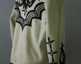 40s Ethnic Mexican Fancy Wool Western Coat Jacket