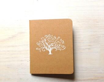 Notebook: Tree, Embossed, Unique, Tree of Life, Journal, Pocket Notebook, Jotter, Kraft, Brown, Simple, Gift, Favor, Wedding, Tree, KR85E