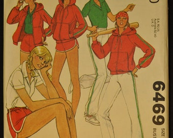 Misses' Jacket, Top, Pants and Shorts Size 12 Bust 34 Uncut Vintage 1970s Sewing Pattern-McCall's 6469