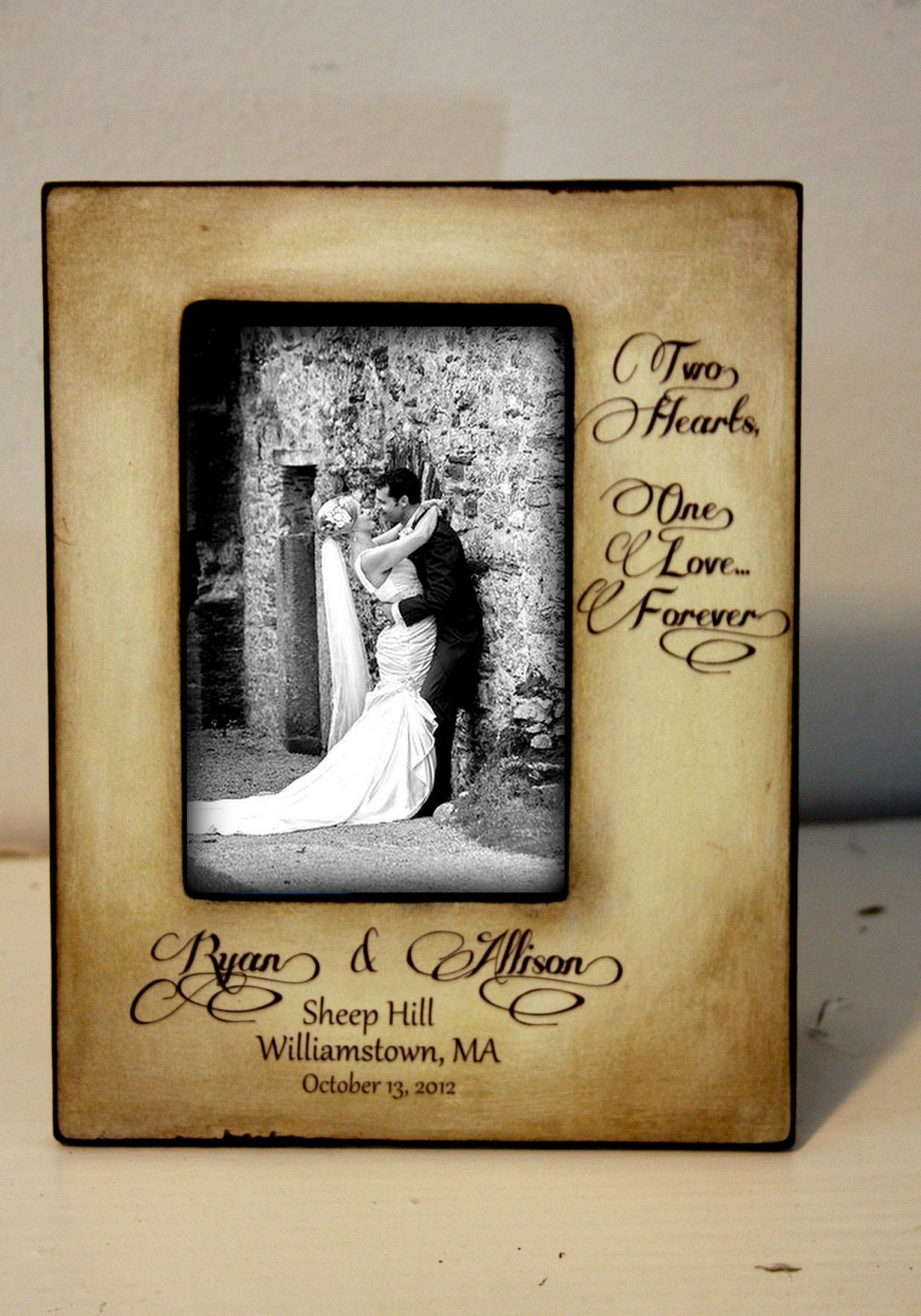 Wedding Frame Gift Personalized Date And Location Couple