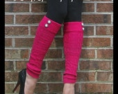 Button Leg Warmers / Boot Socks In Pink. Perfect with boots, heels or flats. Great Boot Warmers