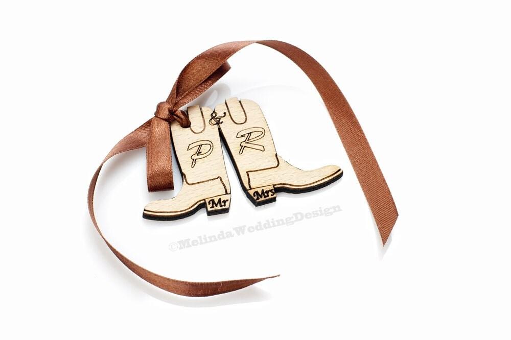 Western Gift Tags Cowboy Boots Wedding By MelindaWeddingDesign