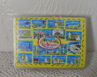 Fabulous Las Vegas Jumbo Souvenir Deck of Cards in Original Plastic Case Vintage 1960's