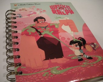 Wreck It Ralph Little Golden Book Recycled Journal Notebook