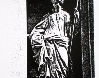 Rome : Trevi Fountain, Statue of Salubrity - limited edition screenprint