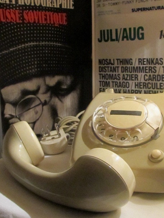 Rotary Vintage Telephone Cream and Grey color