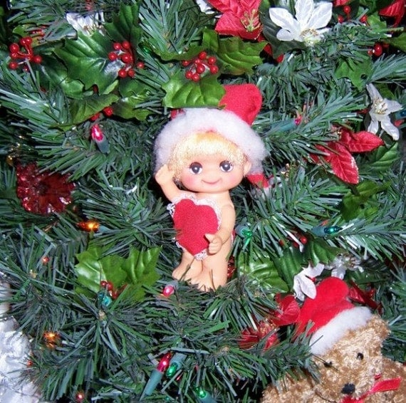 Vintage Christmas Ornament: Miss Christmas Cutie in Red - S1011
