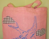 Soaring Bird-stencil on pink