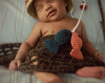 Gone Fishing Crochet Prop