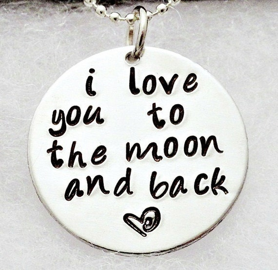 I Love You Quotes: Items Similar To Personalized Necklace Hand Stamped