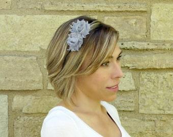 Adult Headband Women, Shabby Chic Headband, Girls Flower Headband Toddler Flower Girl Headband, 702