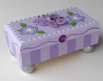 Purple Butterfly Treasure Box