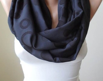 Christmas Gift Holiday Black Infinity Scarf Gift Scarf Shawl Gifts For Women Gift for Her Women Fashion Accessories Christmas Gift For Her