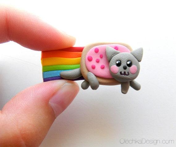 Nyan Cat Magnet Meme Polymer Clay