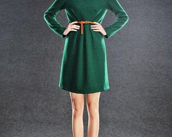wool dress mini dress women dress C002