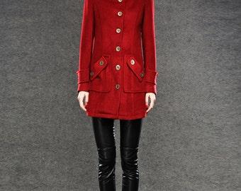 Winter wool jacket for women warm coat C040