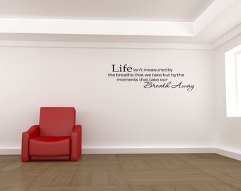 Life Moments Vinyl Wall Decal Quote Home Sticker Decor (v172)