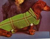 Dog Coat  Sweater Vintage Knit Pattern  New