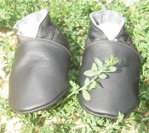 soft sole baby shoes leather infant kids children girl boy gift  black 6-12 bébés chaussons bébé cuir souple chaussures