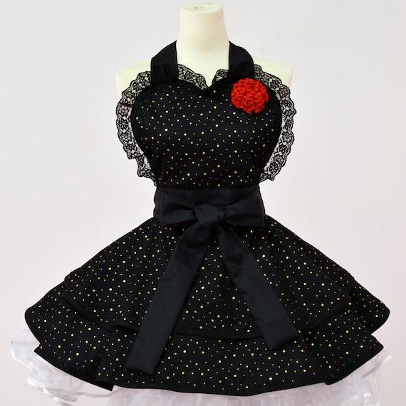 Sexy Black  Lolita Costume Apron
