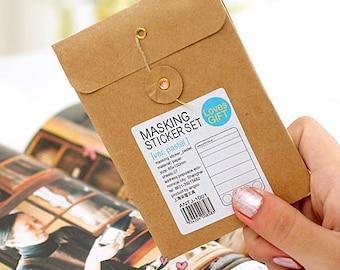 Masking Sticker Set - Deco Stickers - Paper Stickers - 27 Sheets - Pastel Ver