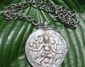 Antique Tribal Necklace / 19th Century Jewelry / 1800s / Bheru Tribal Pendant Necklace