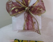 Lovely Hand Turned Slimline Twist Pen - Yellow and Green Swirls with Grip - Hand Made Items Make Great Gifts