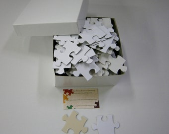 Thick Extra Large Blank White Puzzle Pieces for Unique Wedding Guest Book Alternative  Event Puzzle, Alternative Guestbook, Puzzle Guestbook