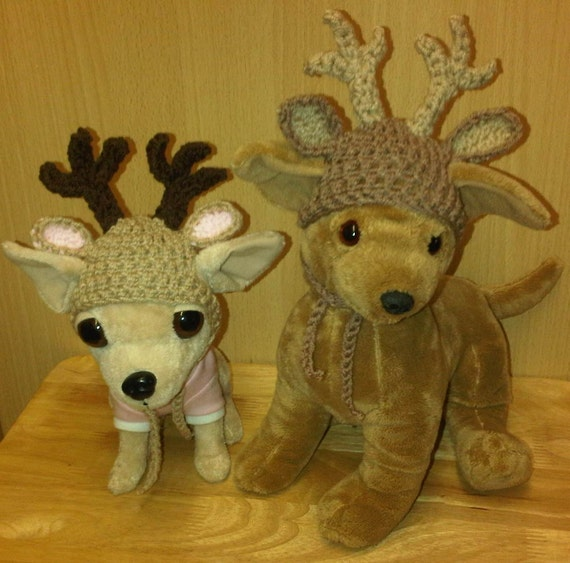 Crochet reindeer dog hat for Medium size dogs by PimperedPooch. ➤. Knitting  Pattern ... 40ce6ea02b4
