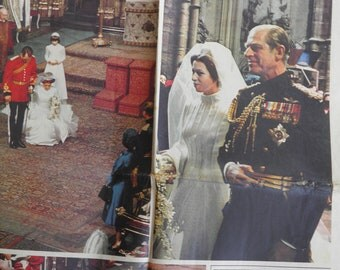 Princess Anne, Captain Mark Phillips, Prince Philip - Royal Wedding Birmingham Post Special Edition November 17, 1973