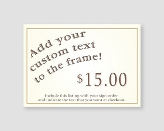 Add your custom text