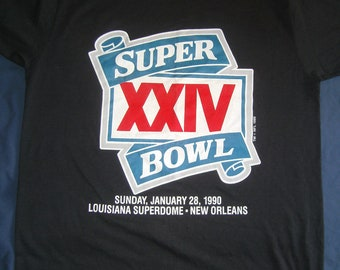 Super Bowl Denver Broncos San Francisco 49'ers XXIV Louisiana Dome 1990 MEDIUM