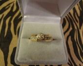 10k Diamond Engagement Ring Wedding Set Bridal Set Size 7