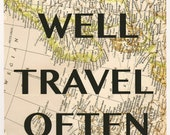 EAT WELL Travel Often -Travel Art from Allie Smelley - 11x14 Print